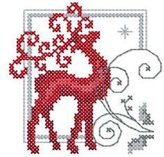 Deer cross stitch free embroidery design - Cross stitch machine embrodiery…                                                                                                                                                                                 More