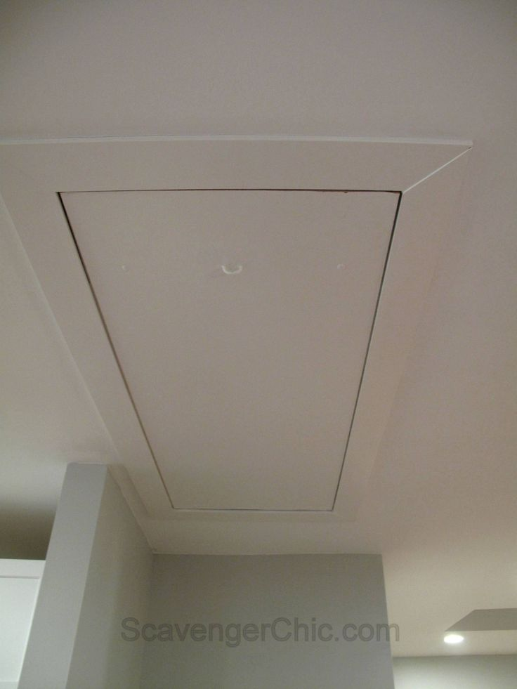 Hiding The Cord In A Pull Down Attic Stair Access Ideas