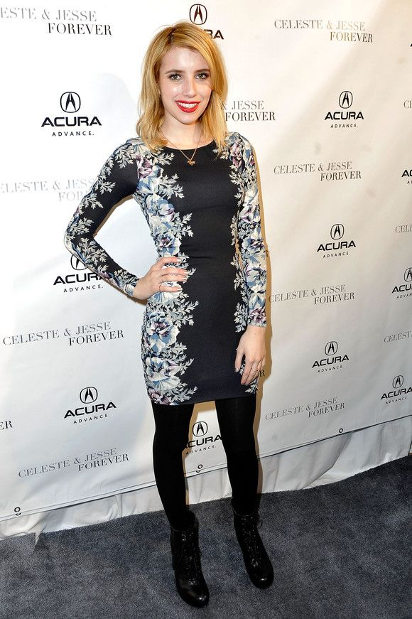 Emma Roberts at the 'Celeste & Jesse Forever' Dinner at Acura Studio in January 2012. See more of her looks at http://bit.ly/IWW1YF: Style Inspiration, Emma Roberts, Photo, Style Profile
