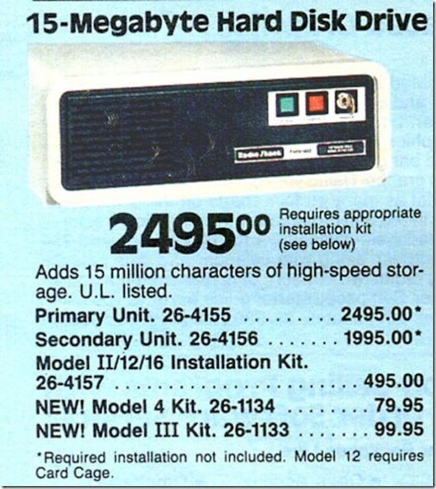 15-Megabyte Hard Disk Drive.
