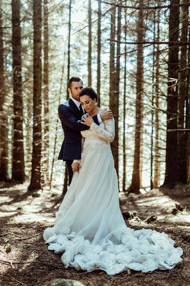 Leila Hafzi Wedding Dress - Leila Hafzi Wedding Dress for A Rustic Luxe Stavanger Barn Wedding Images by Green Antlers Photography