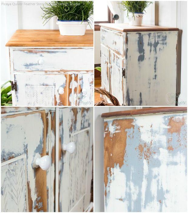 DIY Stenciled Furniture Tutorial: A Damsel In Distress Using Royal Design  Studio Furniture Stencils