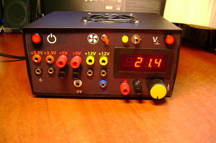 Miskatonic Institute of Technology: PC power supply modification. ATX PSU hack with regulated variable voltage and LCD voltmeter.