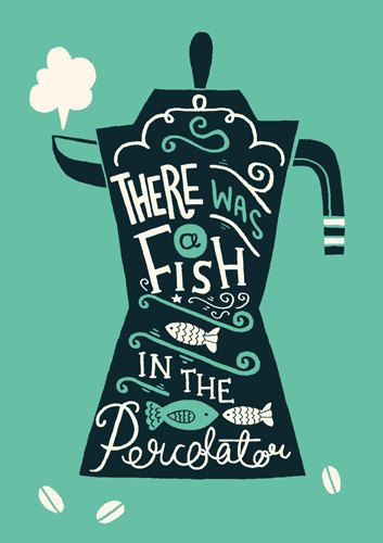 A3 Twin Peaks Art Print 'There was a fish in by stephsayshello