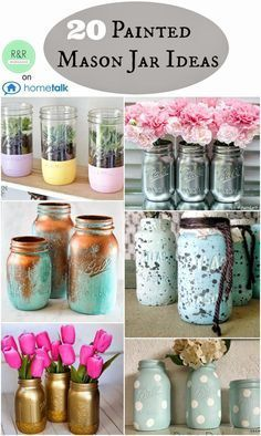 R & R Workshop: Painted Mason Jar Ideas