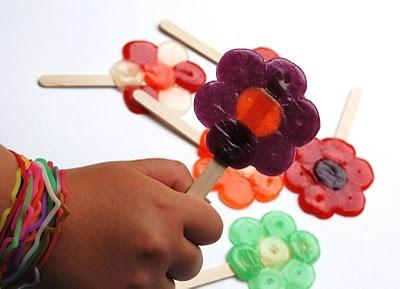 The Broken Oven: Candy Flower Lollipops