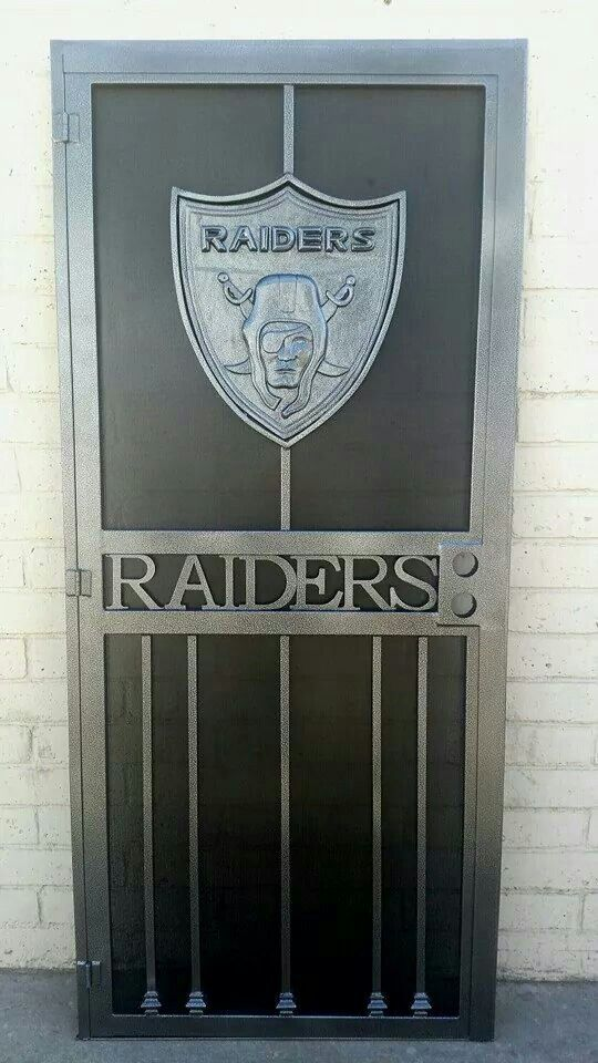 Raiders wrought iron door,I want one