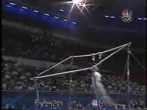 Elise Ray - 2000 Olympics Team Finals - Uneven Bars