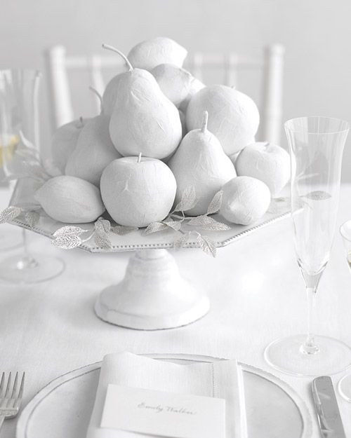Winter White Fruit centerpiece