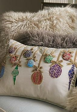 Bring new, festive life to your seating space with the Ornament Decorative Pillow that boasts an eye-catching design featuring beautiful ornaments.