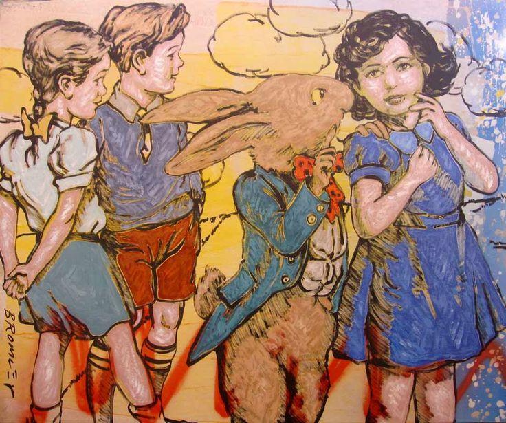 Children Painting Art - David Bromley - Wonderland Book
