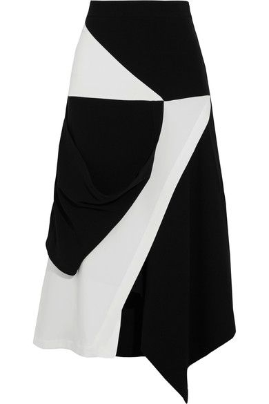 J.W.Anderson - Asymmetric Wrap-effect Crepe Skirt - Black