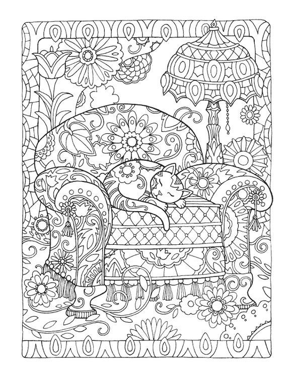 fine line coloring pages - photo#22