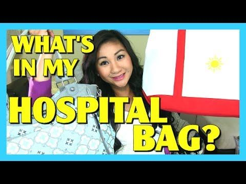 What's in my Hospital Bag + Baby's Hospital Diaper Bag? - YouTube