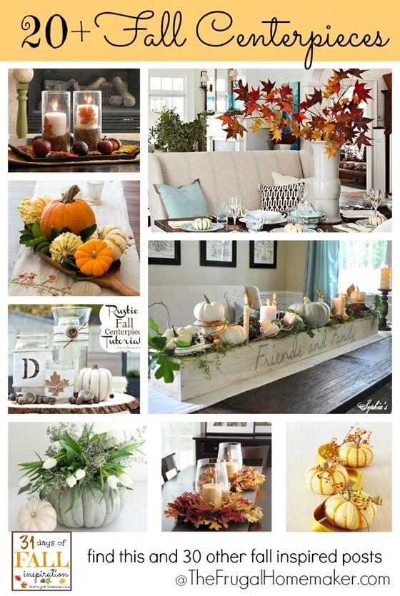 20  Fall Centerpieces