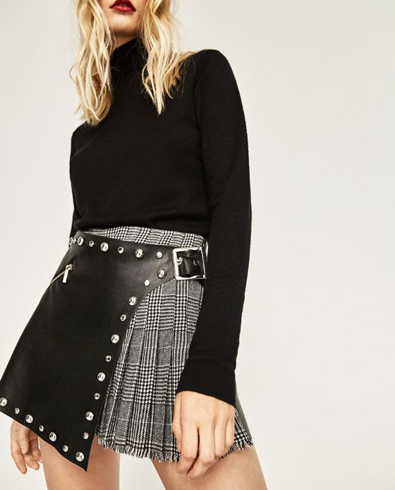 Image 2 of CONTRAST CHECK SKORT from Zara