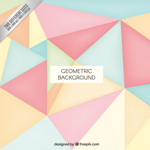 Geometric background in pastel colors I Free Vector