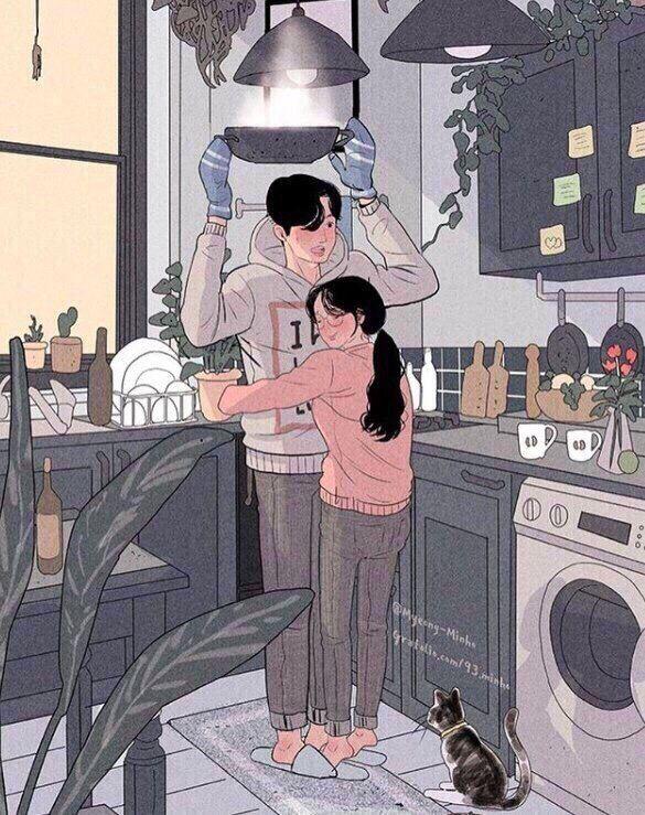 парень и девушка♥ в 2020 г.   Иллюстрации арт ...