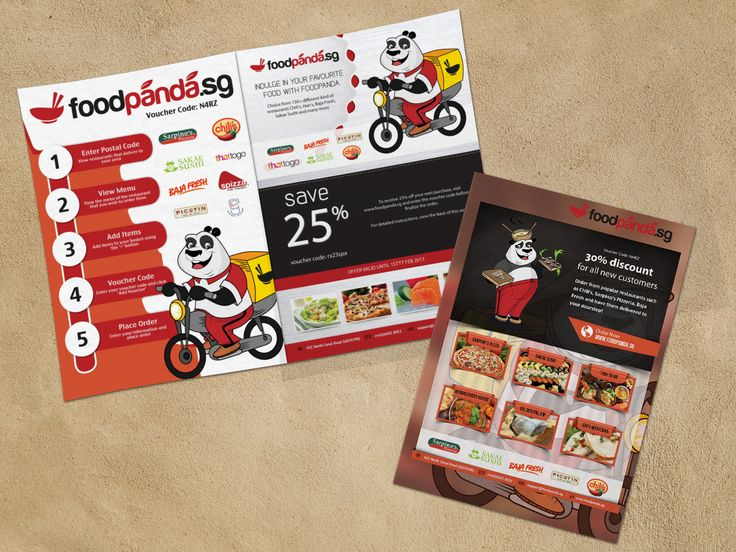 Flyer Design For Foodpanda  Marketing Media Graphics