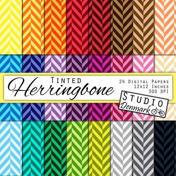 Tinted Herringbone Digital Paper Value Pack - 24 Colors - Commercial Use - 12in x 12in 300 dpi jpg - Instant Download #handmade #gifts
