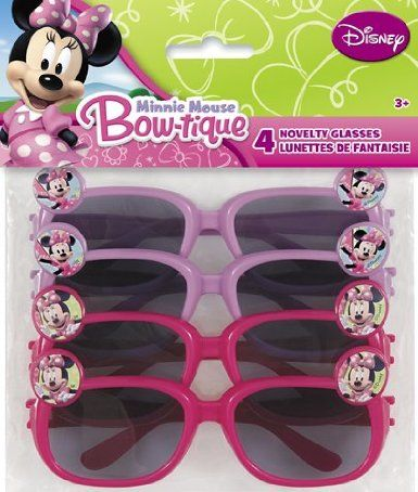Amazon.com: Minnie Mouse Party Favors - 4 Pink and Purple Novelty Glasses: Toys & Games