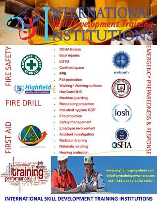 LEADING & NO 1 HEALTH AND SAFETY TRAINING INSTITUTE: www.anytraininganywhere.com