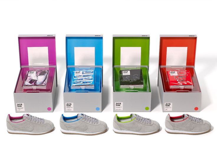 Nike partnered with IdeaLists members Intercity to create this innovative series of Nike iD sneakers and color-coordinating copies of a book about sneakers and art. Four artists created limited-edition covers for the books, and the whole thing is put together in a package that really brings it all together