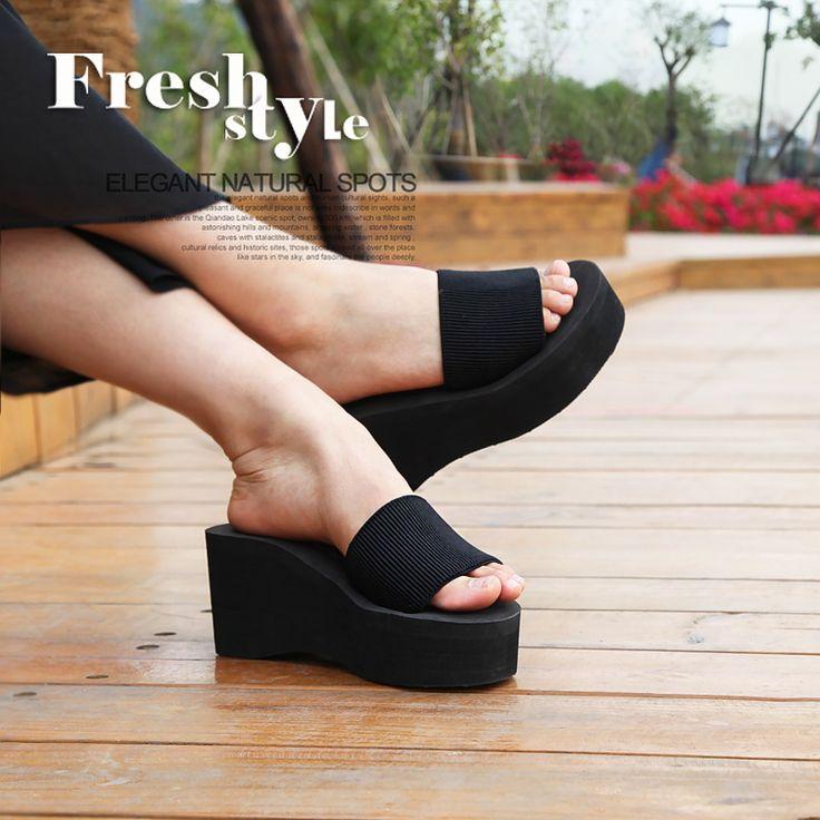 Летняя женщина сандалии 2016 новый сладкий красочные женщины плоские сандалии с открытым носком сандалии голова рыбы лифт обувь пляжная обувь