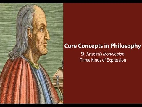 Philosophy Core Concepts: Anselm, Three Kinds of Expression in the Monologion This video focuses on Anselm of Canterbury's work, the Monologion, and discusses his distinction between three kinds of expression (locutio) in ch. 10. By: Gregory B. Sadler.Support Gregory B. Sadler on Patreon