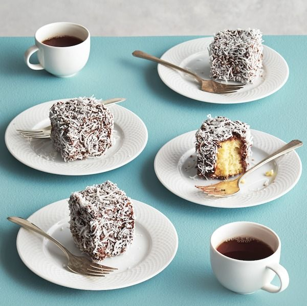 Celebrate Australia Day (January 26) with the country's signature sweet: lamingtons. They're fluffy little snacking cakes drenched in coconut and chocolate.