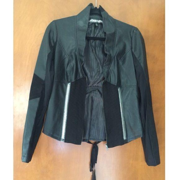 Corset Leather Jacket 86