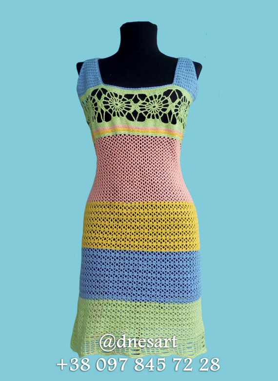 Exclusive Crochet Dress For Girls and Women by DnesArt on Etsy