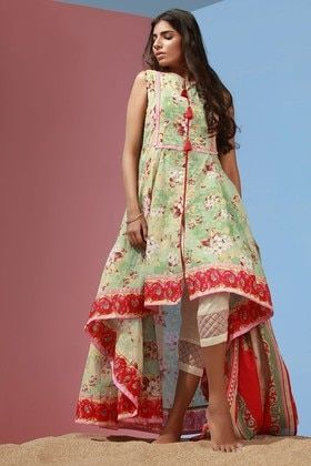 65333f79fe Alkaram Studio 3 Piece Printed Lawn Custom Stitched Suit Spring Summer  Collection - 12167 - Green