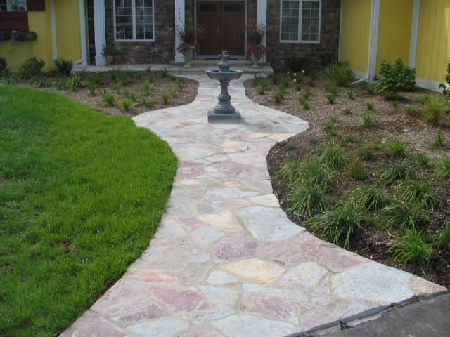 Flagstone walkways   chilton flagstone walkway installed by looman  construction47 best Flagstone Paths   Walkways   Mortar images on Pinterest  . Flagstone Sidewalk Pictures. Home Design Ideas