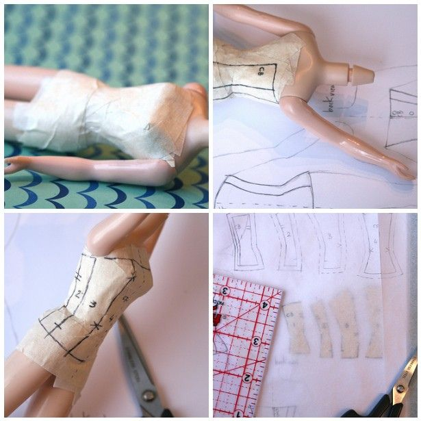 Creating a Blythe Corset Pattern (Part 1) tutorial by Trio Blythe