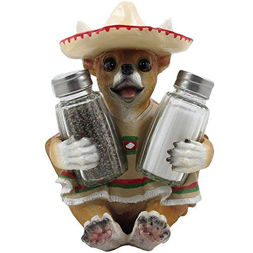 South of the Border Chihuahua Glass Salt and Pepper Shaker Set with Decorative Holder Figurine for Southwestern & Mexican Bar Sculptures and Statues As Kitchen Decor Spice Racks and Gifts for Pet or Dog Lovers Home-n-Gifts http://www.amazon.com/dp/B00OBBWGE2/ref=cm_sw_r_pi_dp_VNCRvb1VA5KFS