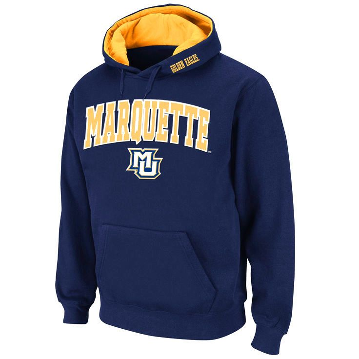 Marquette Golden Eagles Stadium Athletic Arch & Logo Pullover Hoodie - Navy - $34.99