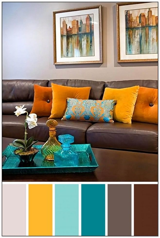 Pin By Maider Delgado On Living Room Wall Color Brown Sofa Living Room Room Color Combination Living Room Color Combination