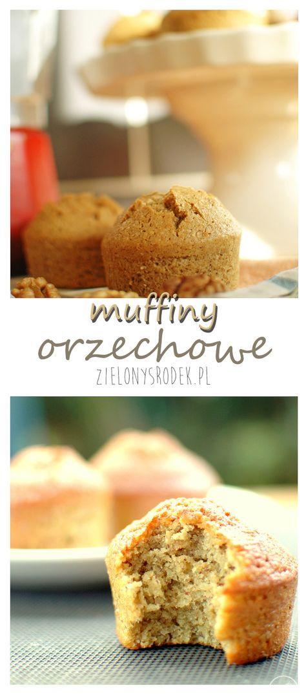 pyszne muffiny orzechowe, bezglutenowe, lekkie wilgotne. idealne na przekąskę, szybkie śniadanie