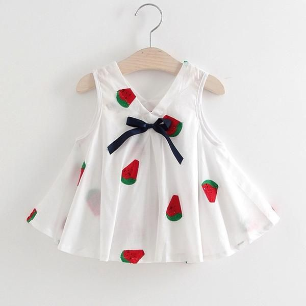 2-3T Baby Girl 100/% Cotton Fashion Clothes Infant Toddler Cute Elegant Dress