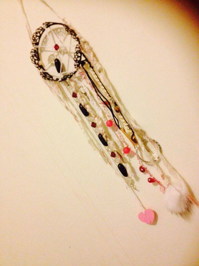 Dream Catcher- made from things laying around the house ❤️