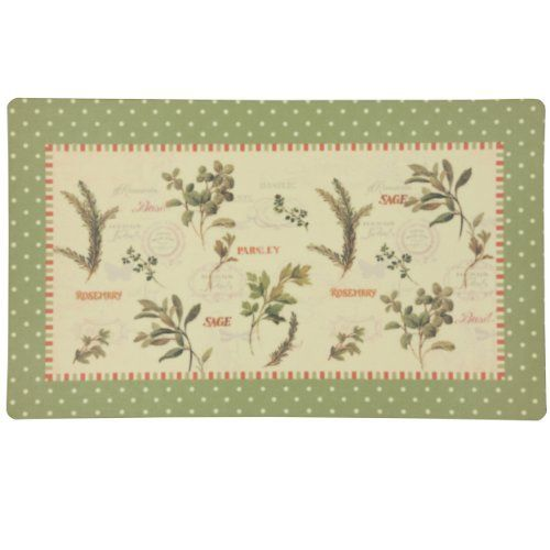 Eco Cushion Aromatique 18-Inch by 30-Inch Doormat by Townhouse Rugs. $19.99. Machine made doormat. Heat transfer visco elastic memory foam. Vacuum or beat debris away, spot clean. Visco memory foam backing. This cushioned mat that offers a cozy feel to your home decor. This mat features anti-fatigue memory foam and is stain resistant. Easy to clean, no bleach or detergent necessary, blot spills with a dry cloth and air dry.