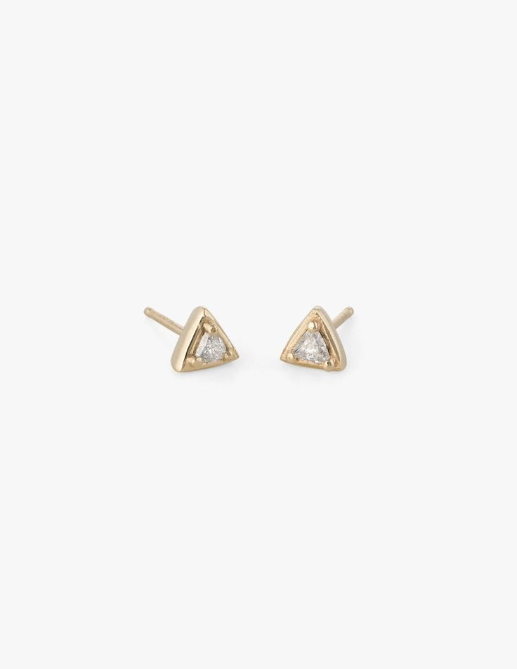 Tiny Diamond Triangle Studs - Dream Collective