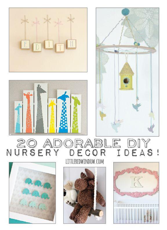 20 Adorable Nursery Decor Ideas! | littleredwindow.com | Tons of ideas for boys, girls and gender neutral!