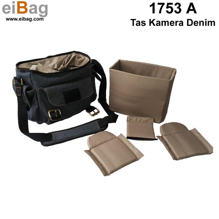 #taskamera #camerabag #tasdenim Tas kamera denim harga murah produk Bandung kapasitas : 1 kamera lensa terpasang, 1 lensa tambahan, flash, aksesoris kamera, tablet 10 inch, free cover bag