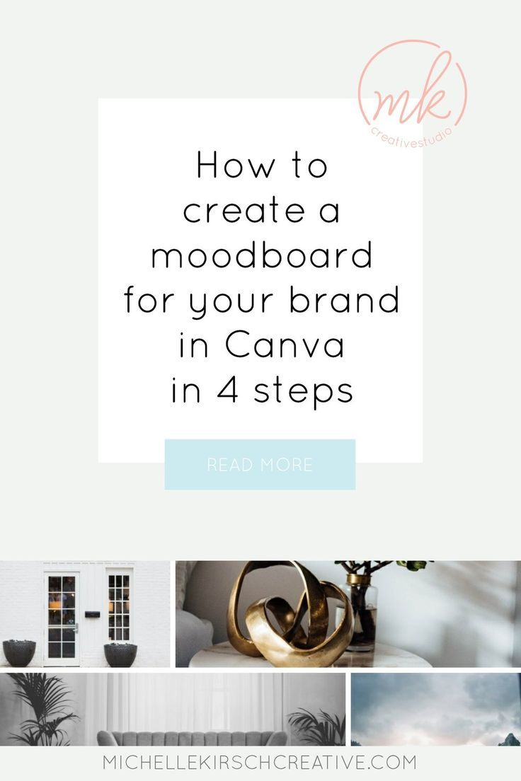 How to create a moodboard for your brand in Canva in 10 steps Mood ...