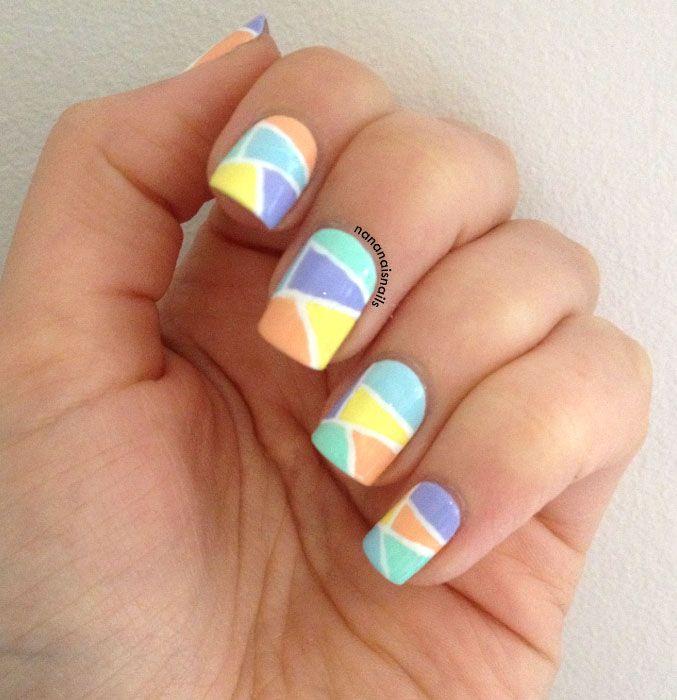 17 Best Images About Color Block On Pinterest: 17 Best Images About Color Block/ Toon Nail Design On