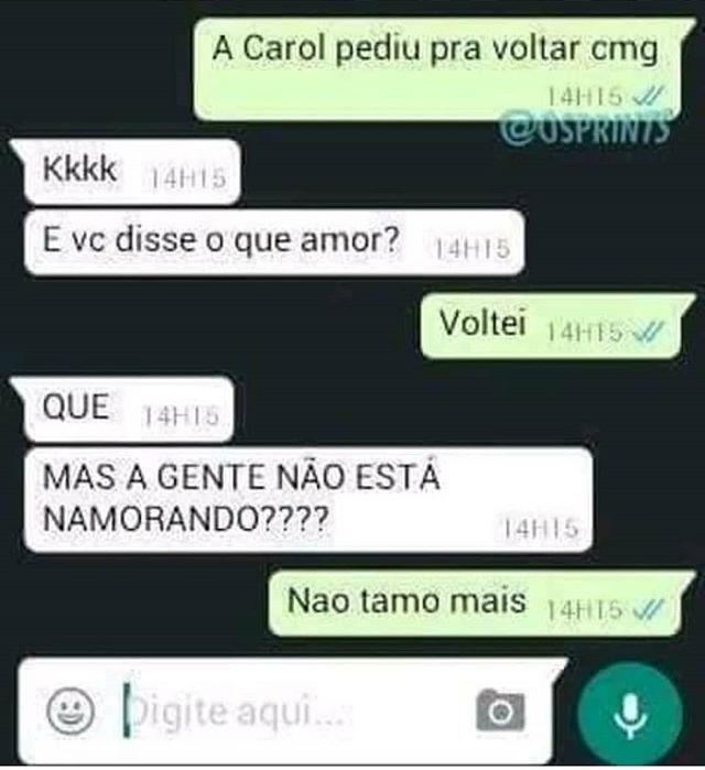 Namoro Namorada Voltar Relacionamento Zueira Memes Brasil Engracados Humor Cois Memes Engracados De Namorado Respostas De Provas Engracadas Engracado