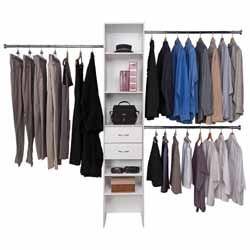 Buy Right Wardrobe Organiser 400mm Wide Tower White