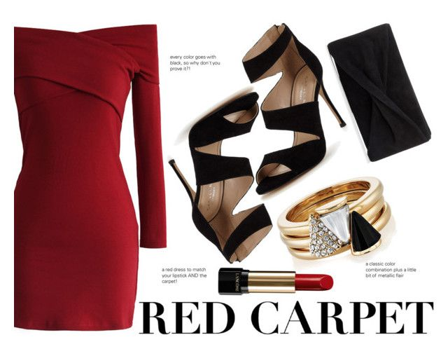 """""""Oscars Red Carpet Look"""" by baetoro ❤ liked on Polyvore featuring Chicwish, Carvela, Lancôme, Reiss and Brixton"""
